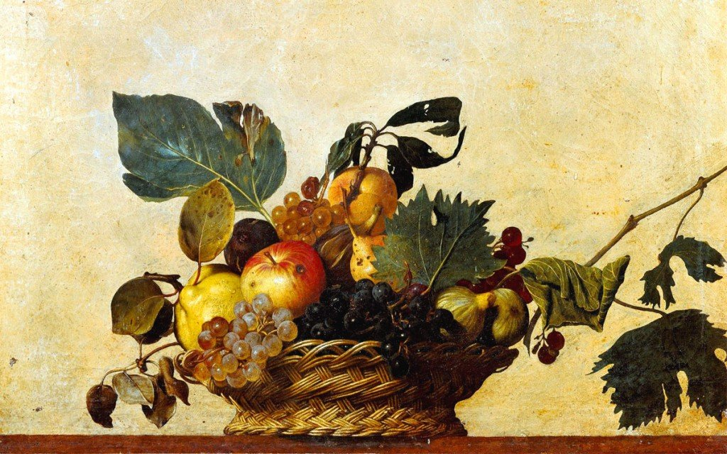 Караваджо, корзина в фруктами