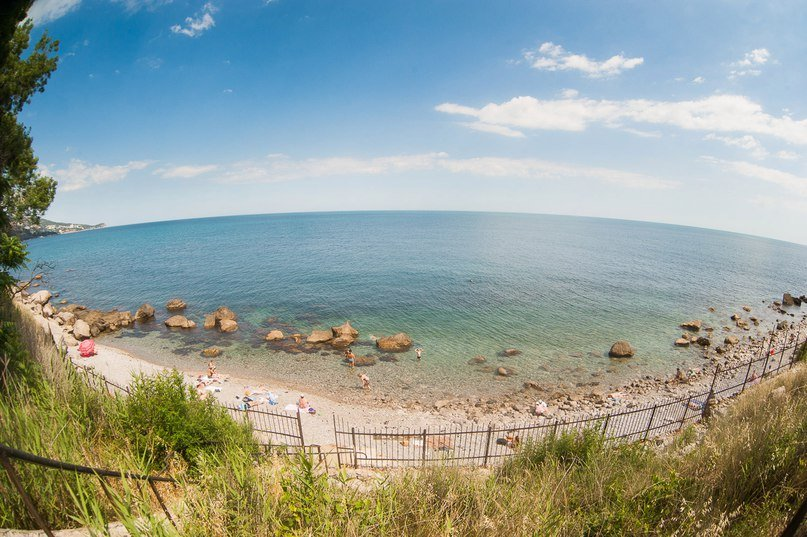 Дикие пляжи Алупки