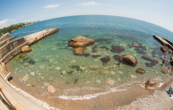 Лазурный пляж Алупка описание