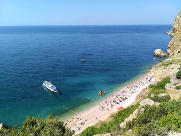 Пляж Васили - красоты Крыма