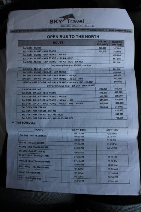 Где купить билет на автобус в Хошимине