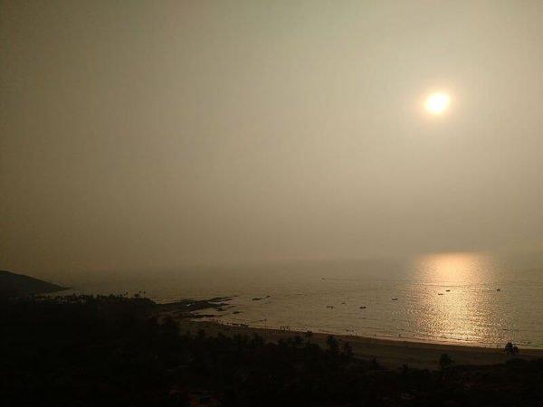 На самом пляже Агуада