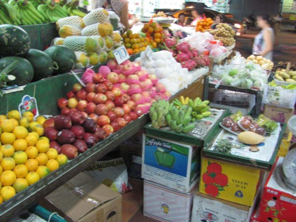 рынок, фрукты паттайи