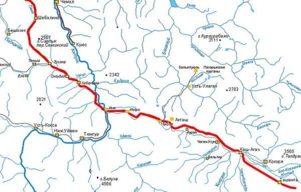 карта алтай путешествие по чуйскому тракту