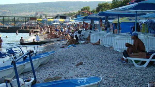 пляж города Феодосии