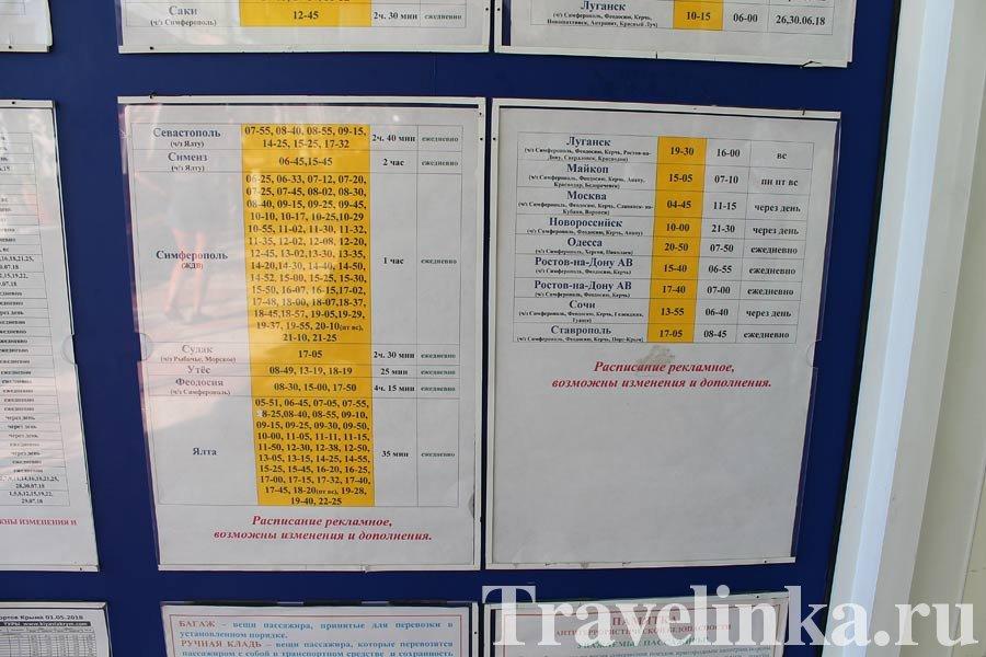 Расписание автобусов Алушта - Ялта