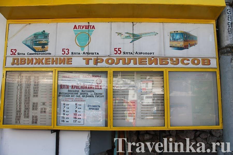 троллейбус расписание Ялта Алушта