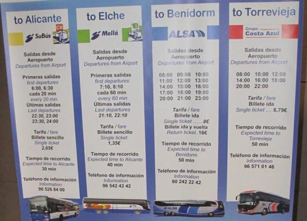 автобусы Аликанте