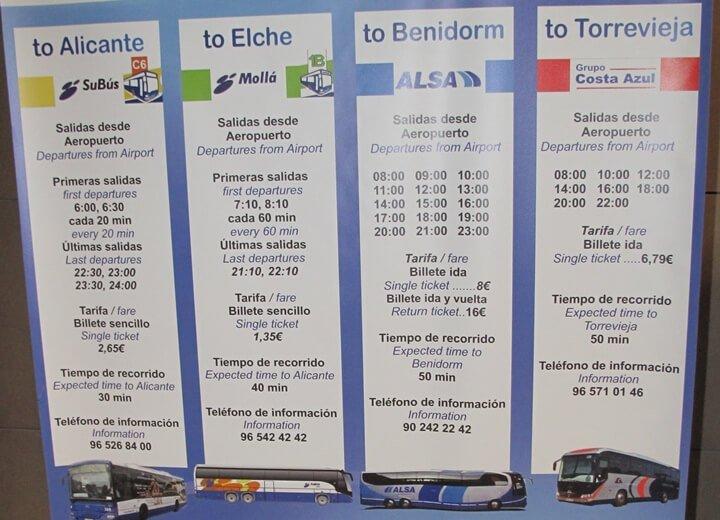 Автобус из торревьехи в аэропорт аликанте