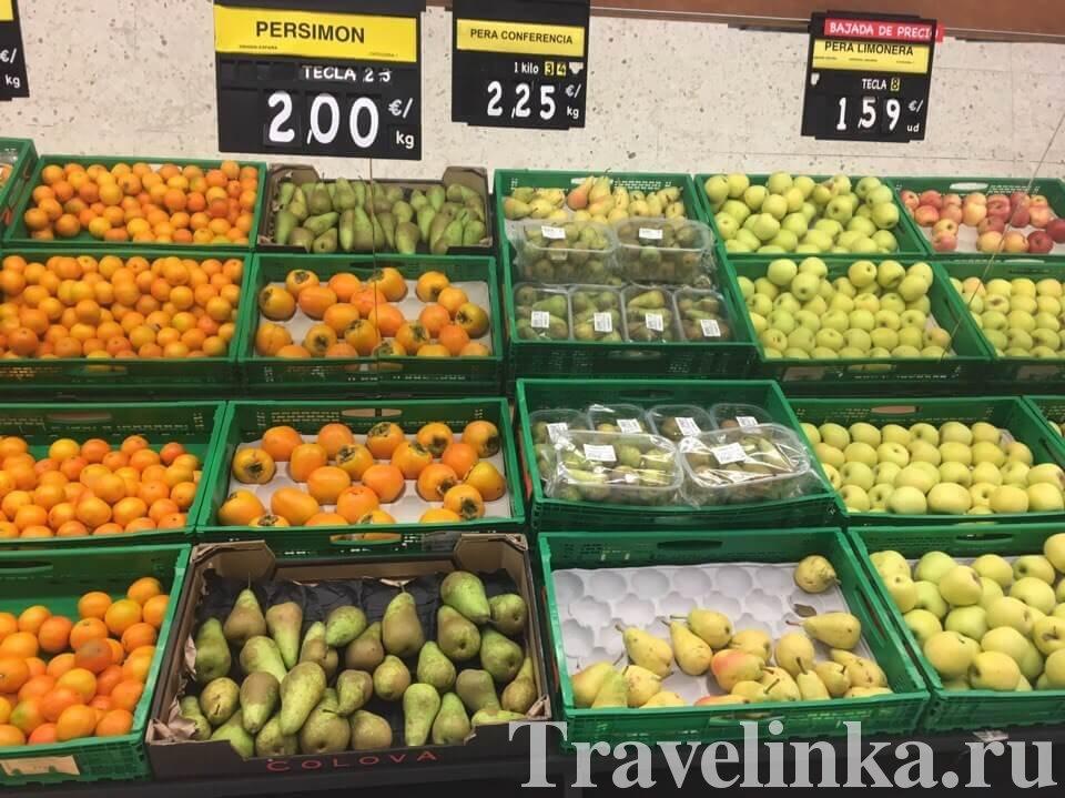 Цены на продукты на Тенерифе