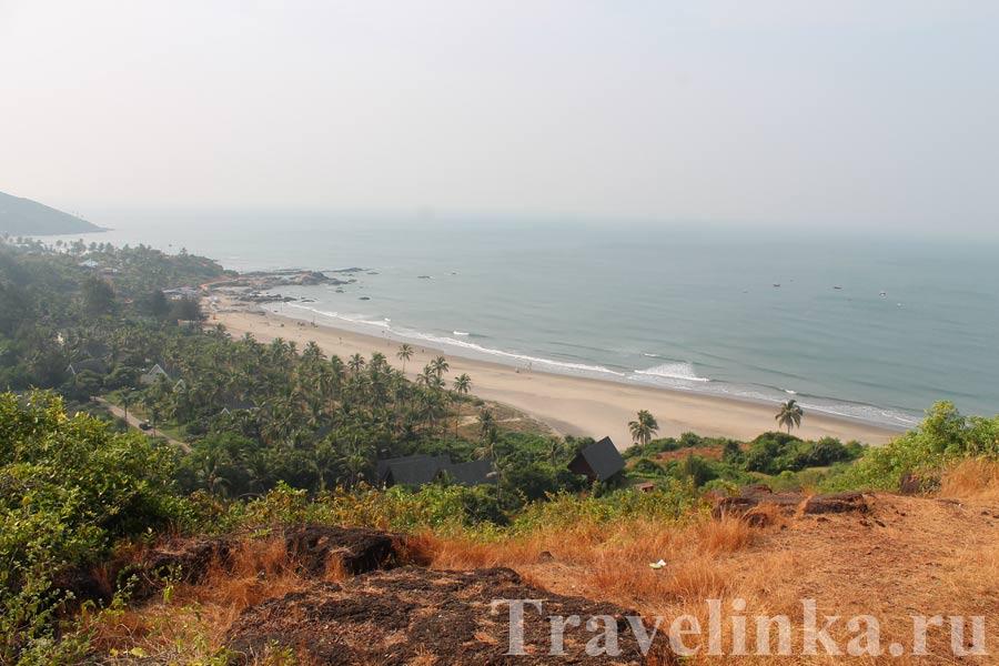 пляж Чапора в Индии Гоа