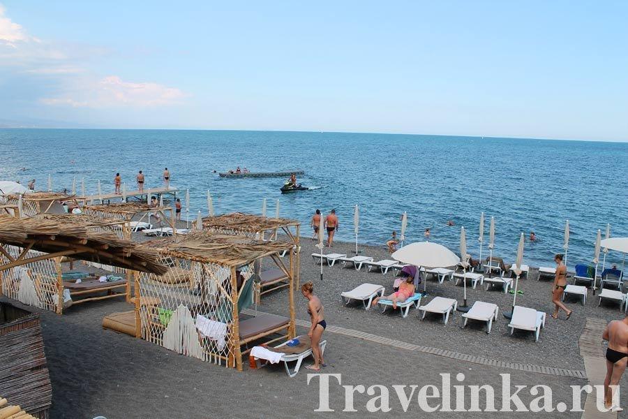 пляжи Алушты