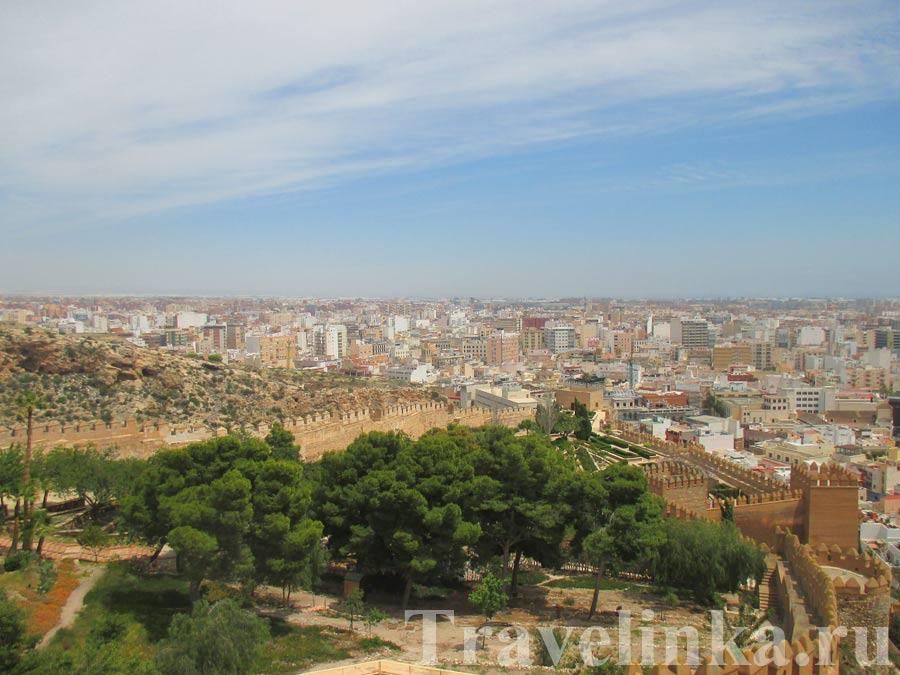 крепость Алькасаба в Альмерии