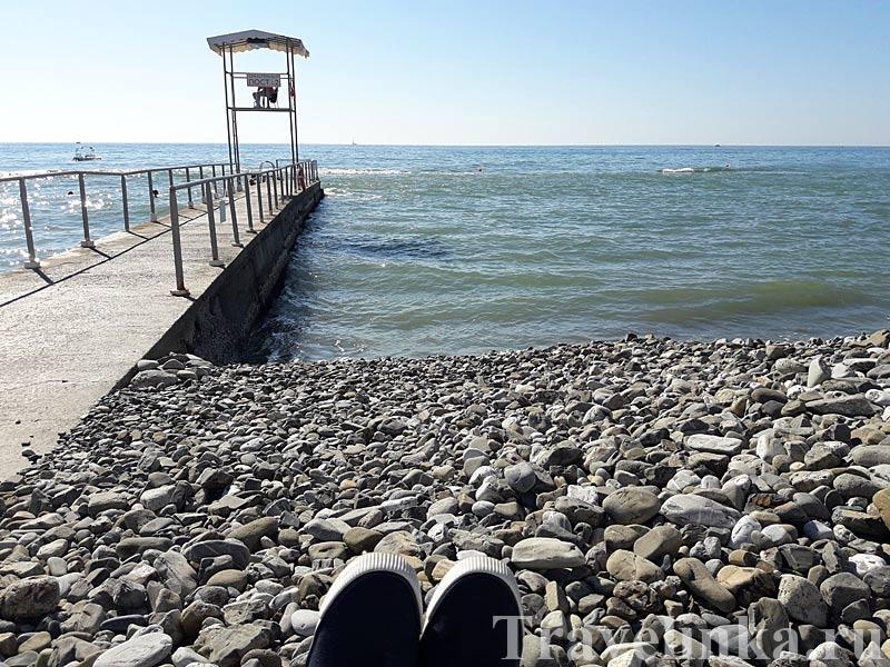 пляж Сочи осенью