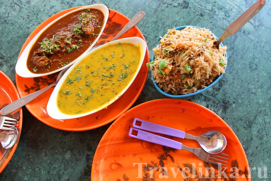 Еда в Гоа Индия