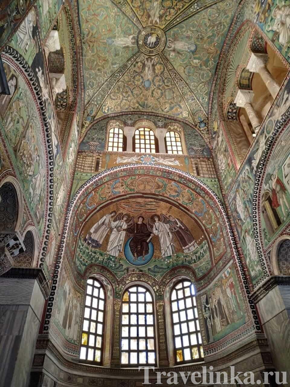 Базилика Сан-Витале мозаики Равенна
