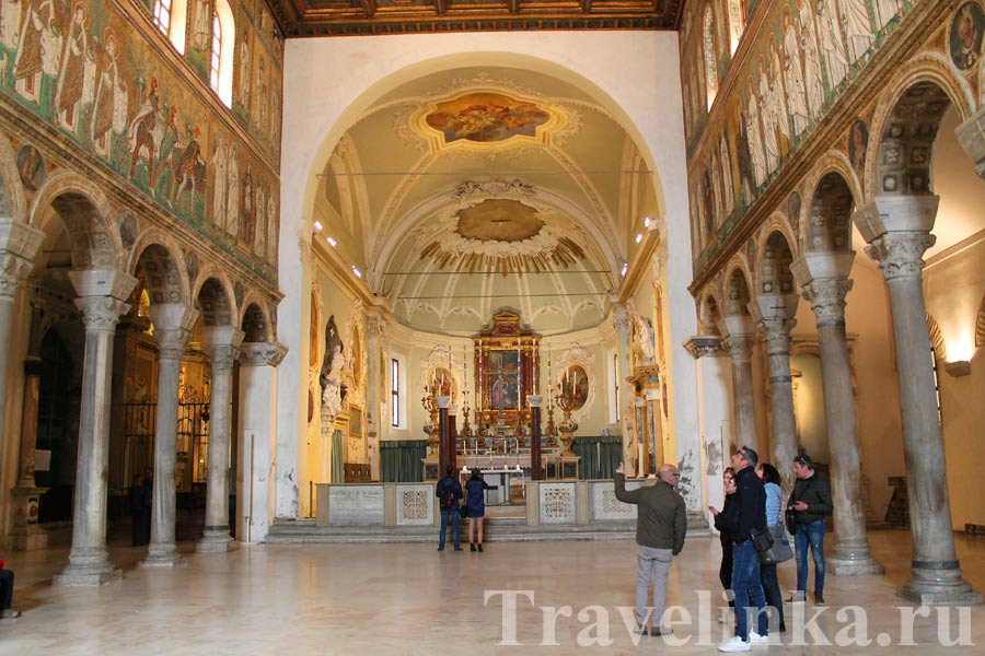 Базилика Сант-Аполлинаре-Нуово, мозаики Равенны