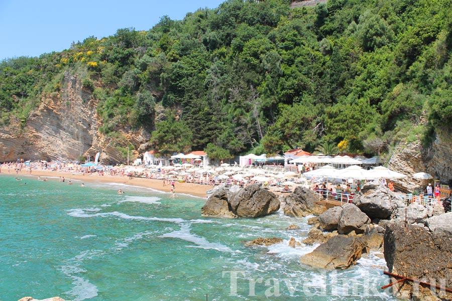 Пляж Будвы Могрен 2