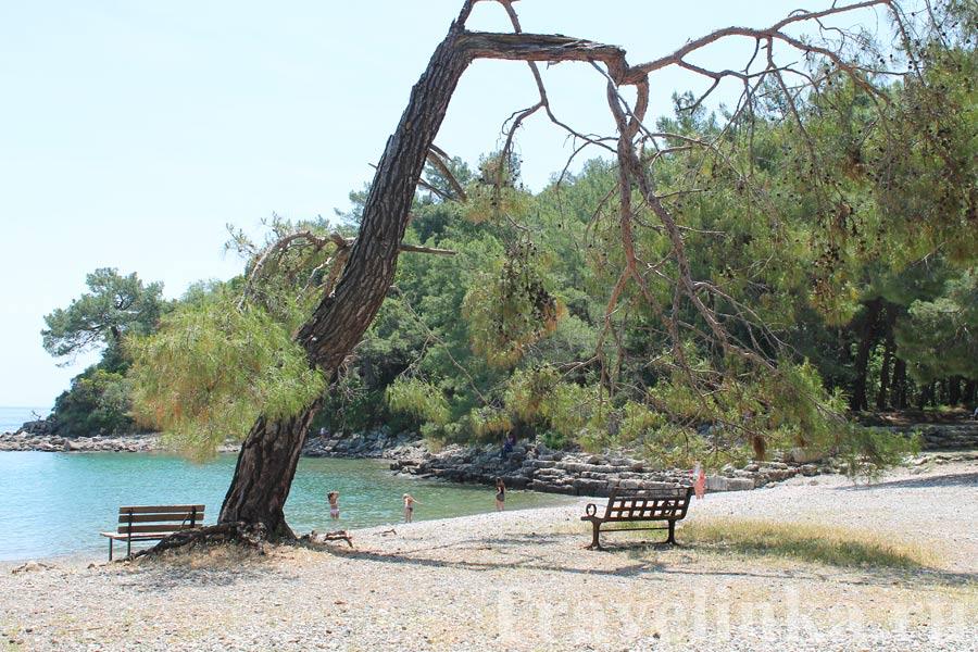 Пляж Фаселис около Кемера