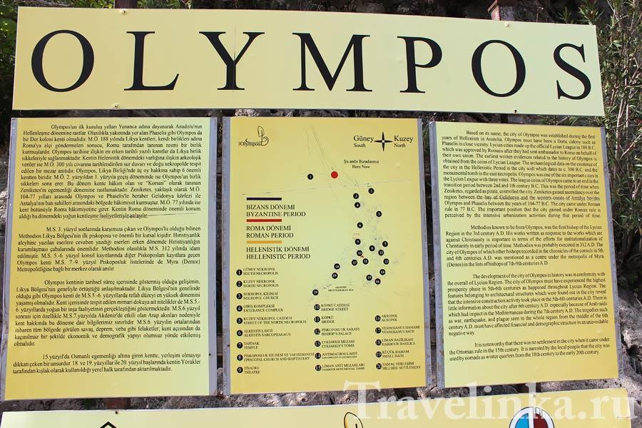 Олимпос, Кемер - древний ликийский город
