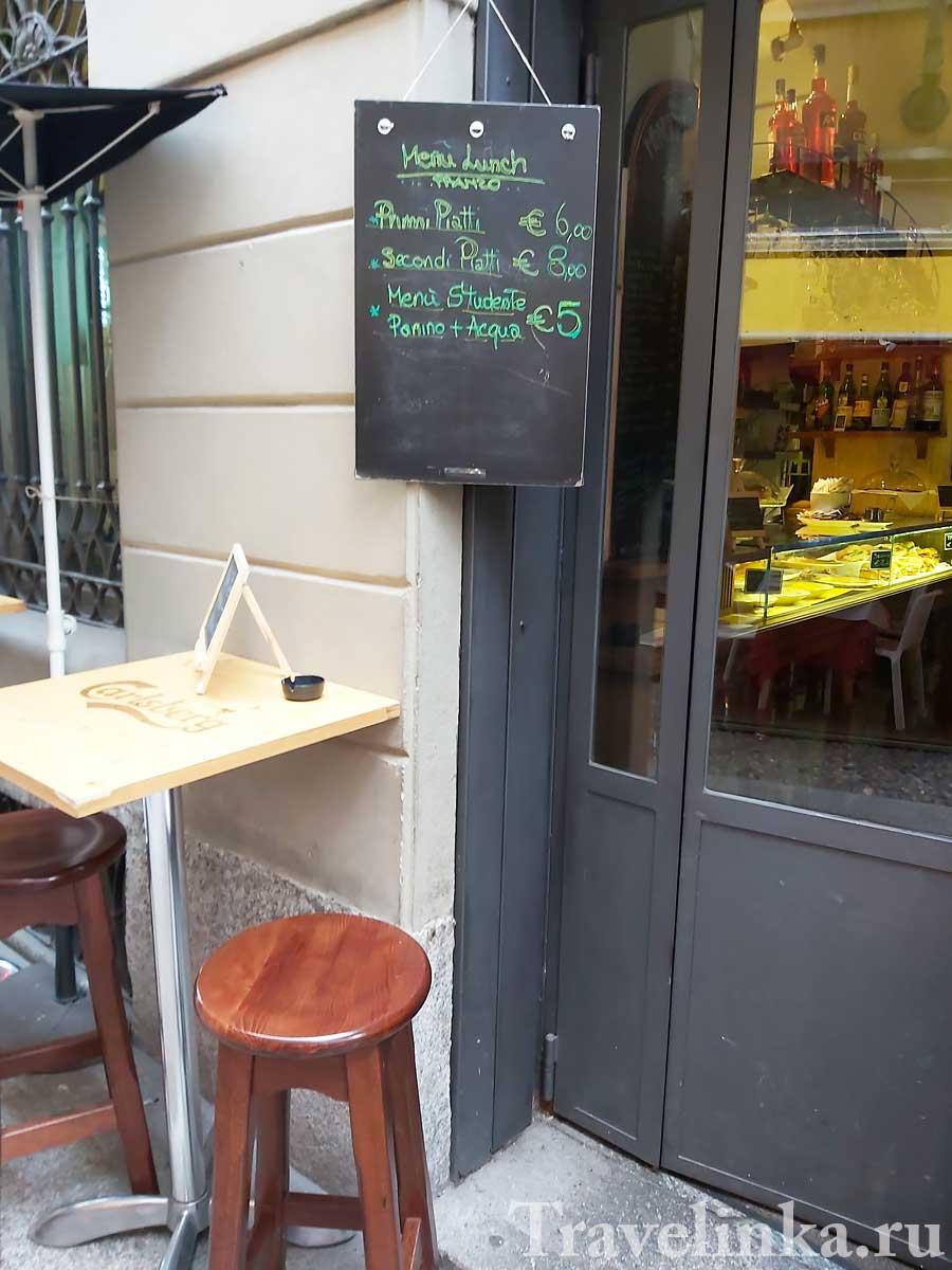 Цены в Милане