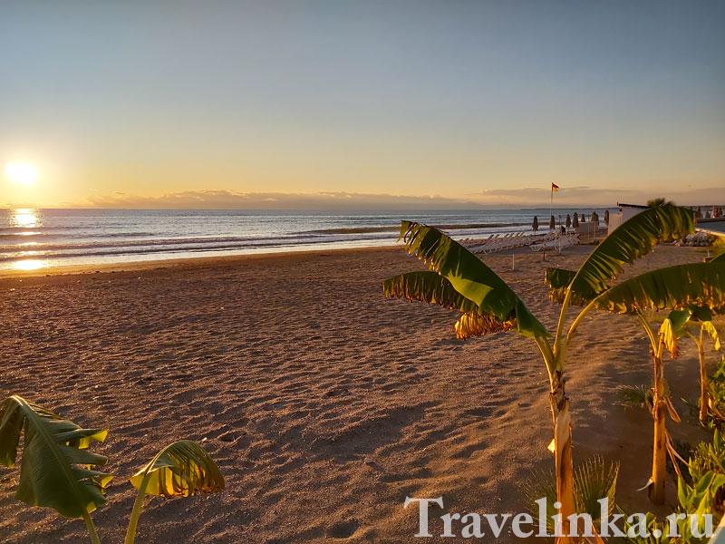 Пляжи Турции в декабре
