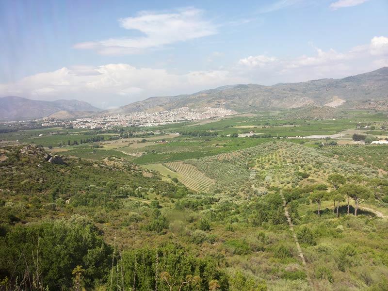 Вид с горы от домика Девы Марии