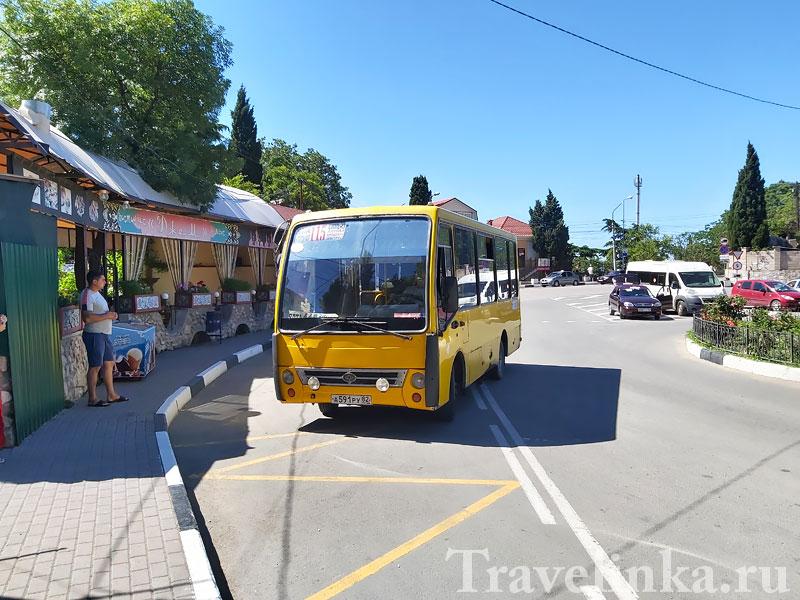 Автобус № 115 в Симеиз
